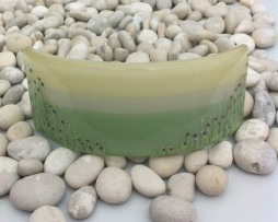Thistle Filed fused glass curve