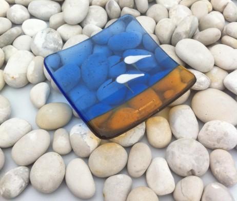 Sea Bird Dish Blue