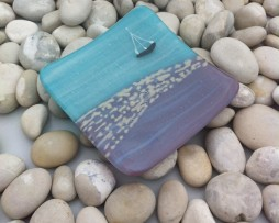 Tranquility fused glass dish