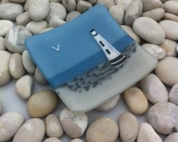 The Lighthouse fused glass dish