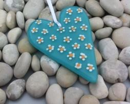 Daisy heart aqua