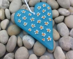 Daisy heart turquoise