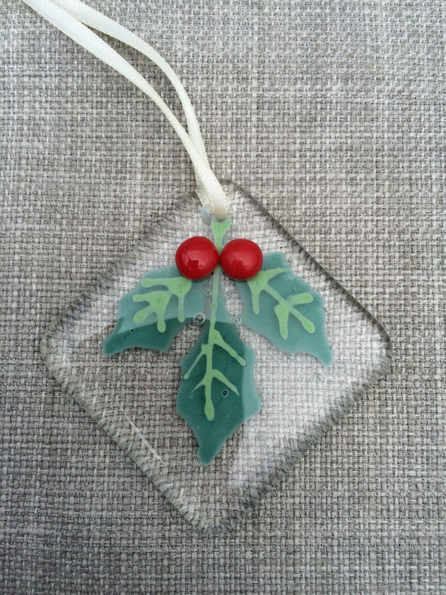 holly christmas tree decoration